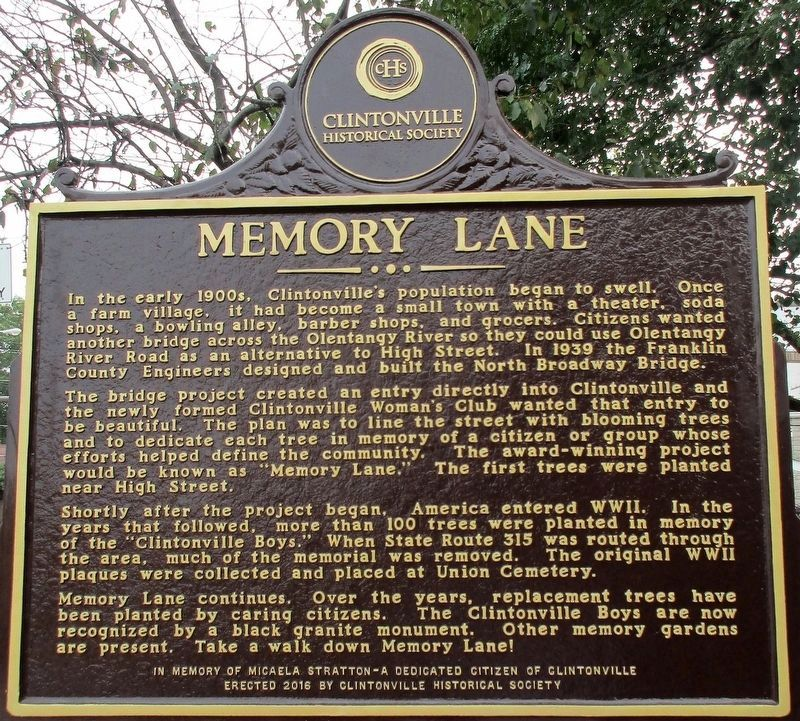 Memory Lane Marker image. Click for full size.