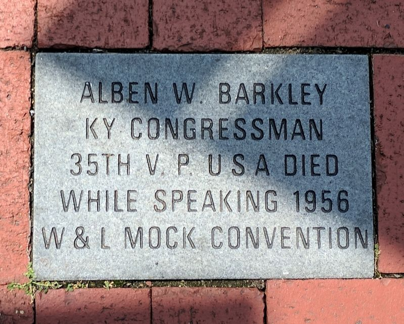 Alben W. Barkley Marker image. Click for full size.