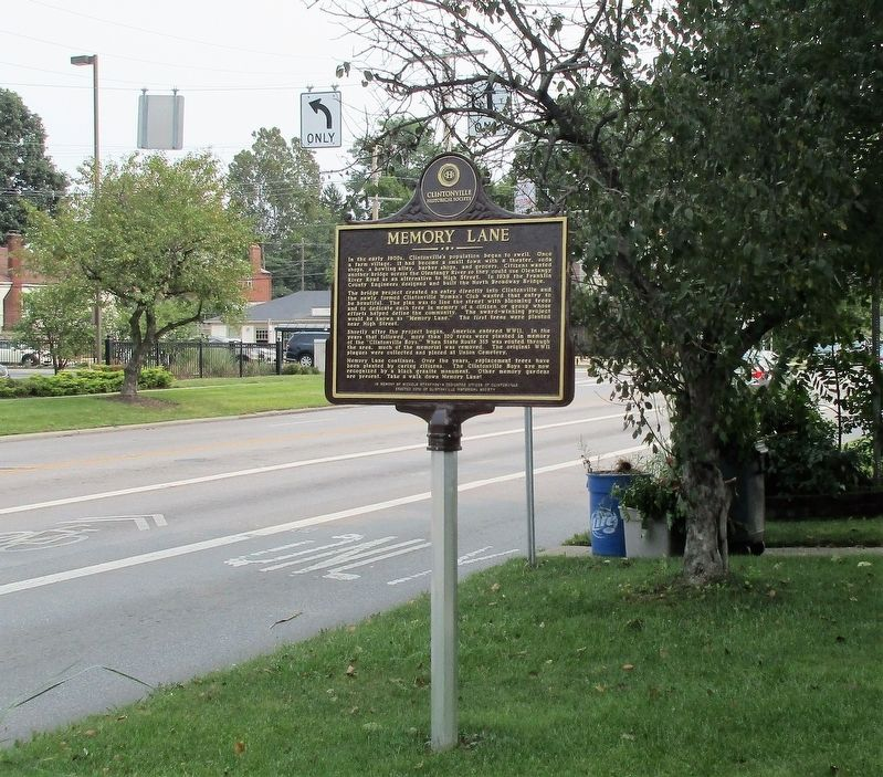 Clinton Theater Marker image. Click for full size.