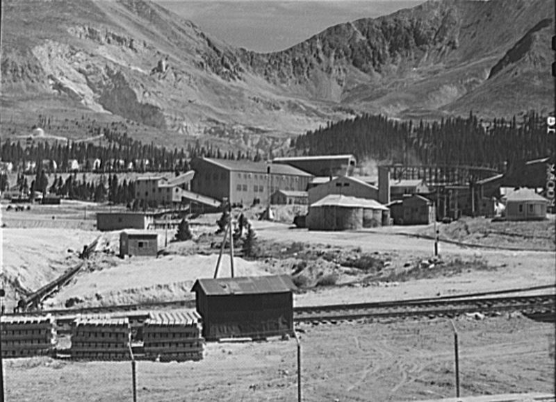 <i>Molybdenum Company Mine. Climax, Colorado</i> (Photograph courtesy of the Library of Congress) image. Click for full size.
