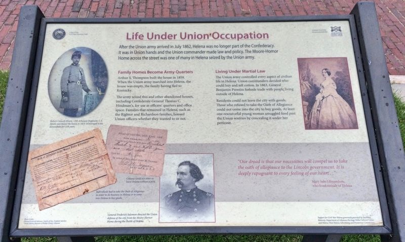 Life Under Union Occupation Marker image. Click for full size.