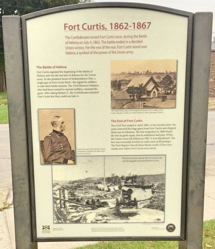 Fort Curtis, 1862-1867 Marker image. Click for full size.