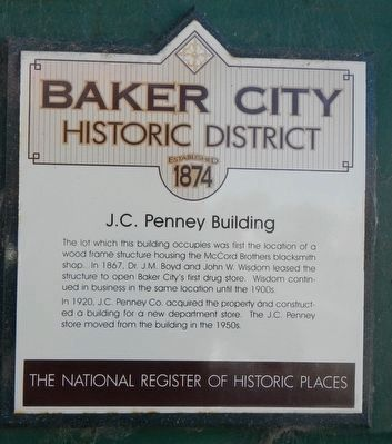 J.C. Penney Building Marker image. Click for full size.
