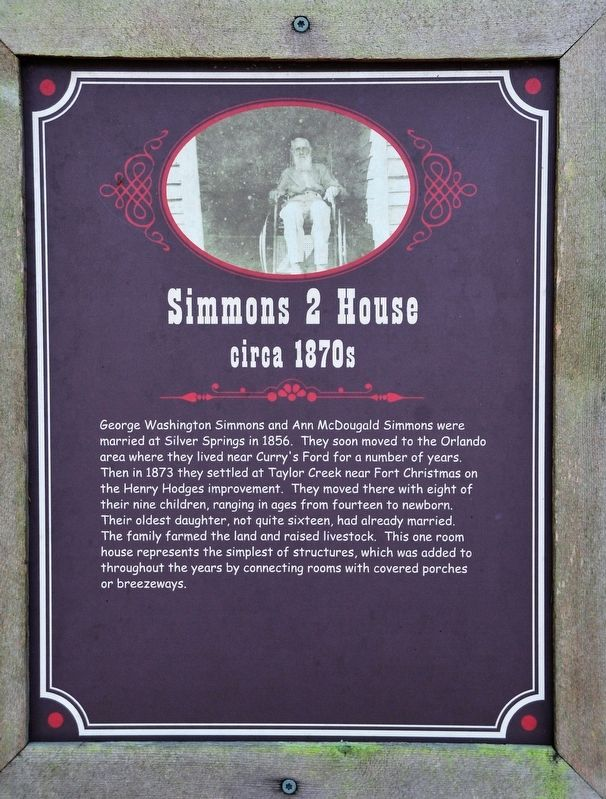 Simmons 2 House Marker image. Click for full size.
