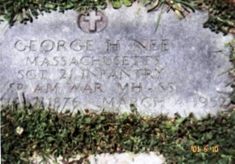 George H Nee Spanish American War Congressional Medal of Honor Recipient grave marker image. Click for full size.