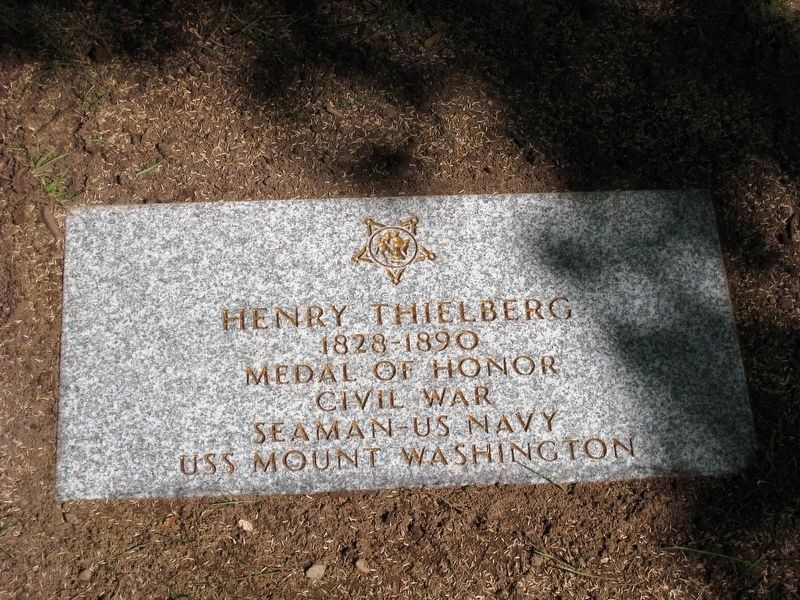 Henry Thielberg-Civil War Congressional Medal of Honor Recipient grave marker image. Click for full size.