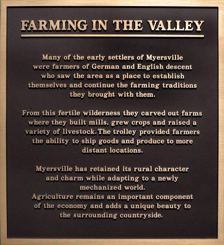 Farming in the Valley Marker image. Click for full size.