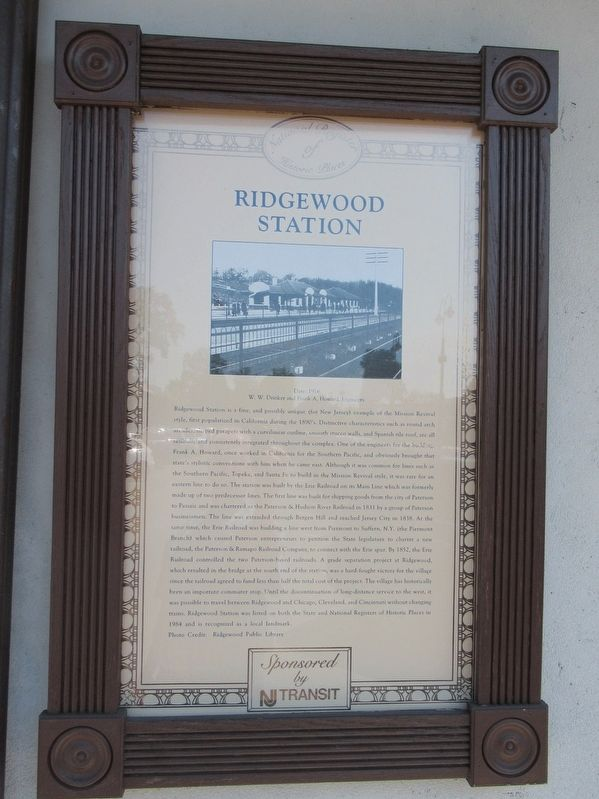 Ridgewood Station Marker image. Click for full size.