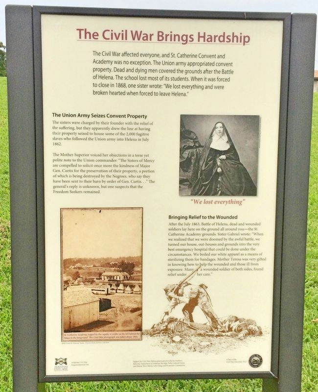 The Civil War Brings Hardship Marker image. Click for full size.