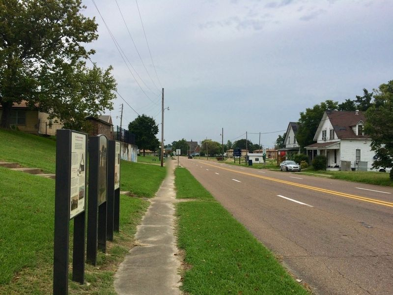 The view north on Columbia Street from the marker. image. Click for full size.