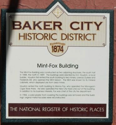 Mint-Fox Building Marker image. Click for full size.
