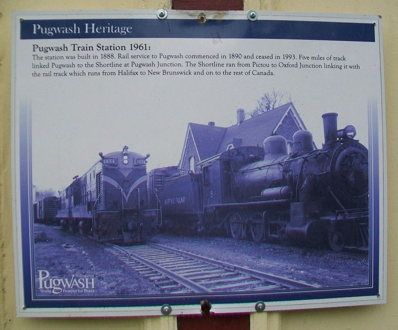 Pugwash Train Station 1961 Marker image. Click for full size.