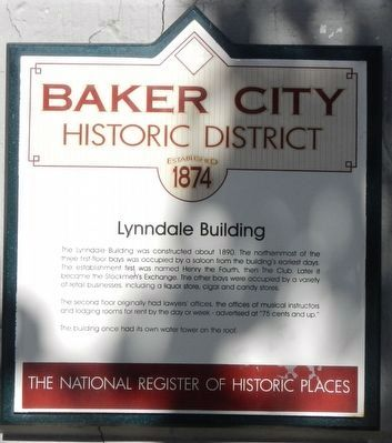 Lynndale Building Marker image. Click for full size.
