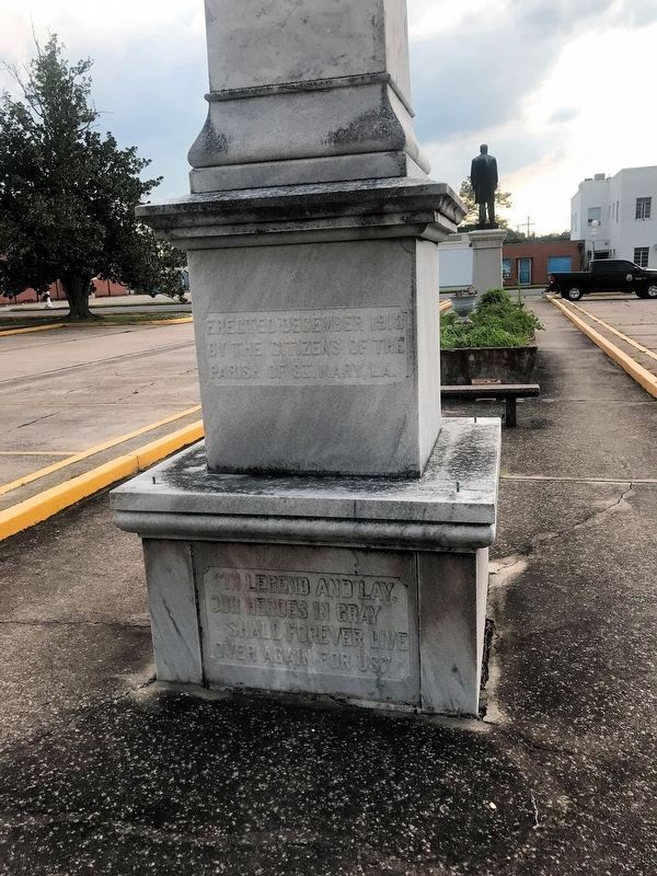 St. Mary Parish Confederate Soldiers Monument Marker image. Click for full size.
