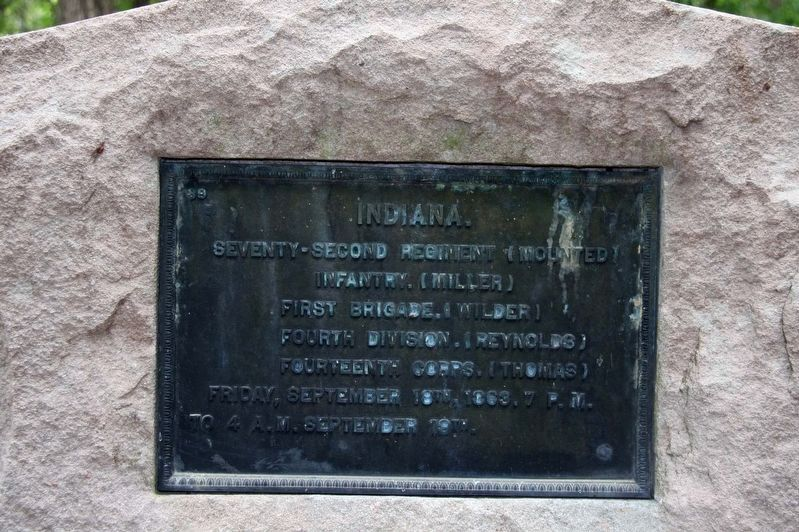 72nd Indiana Mounted Infantry Marker image. Click for full size.