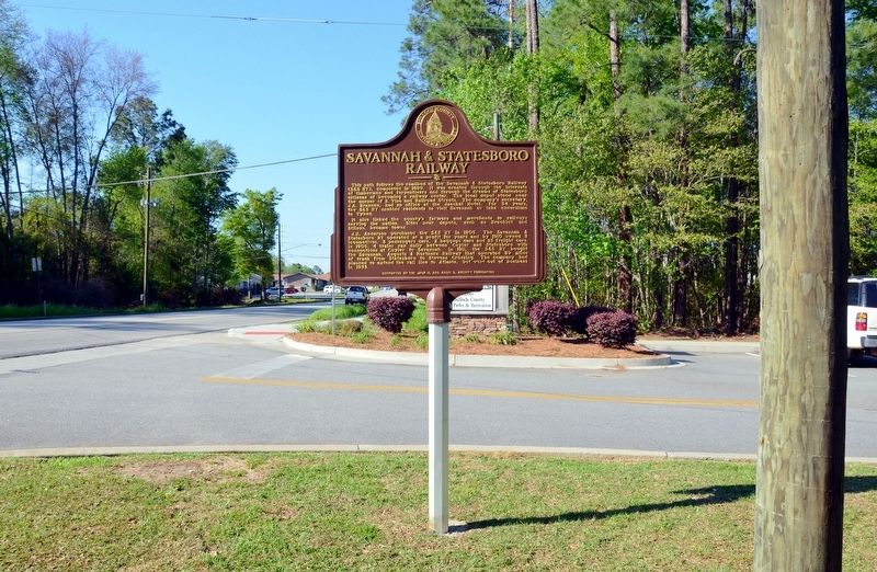 Savannah & Statesboro Railway Marker image. Click for full size.