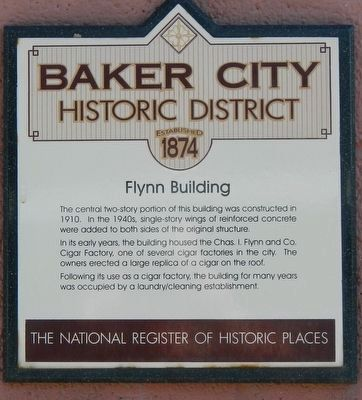 Flynn Building Marker image. Click for full size.