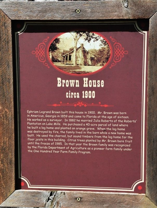 Brown House Marker image. Click for full size.