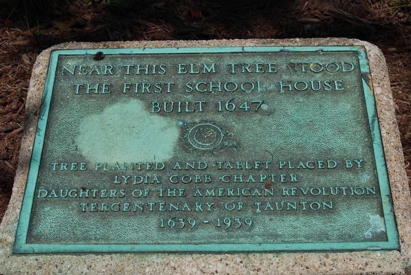 First School House Marker closeup image. Click for full size.