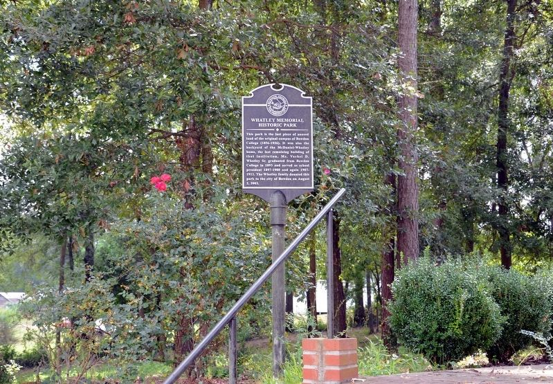 Whatley Memorial Historic Park Marker image, Touch for more information