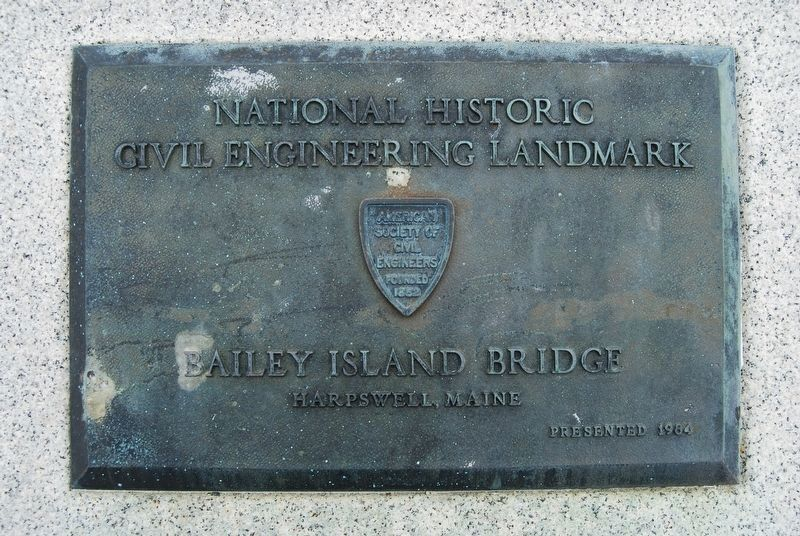 Bailey Island Bridge Marker - Plaque 1 image. Click for full size.