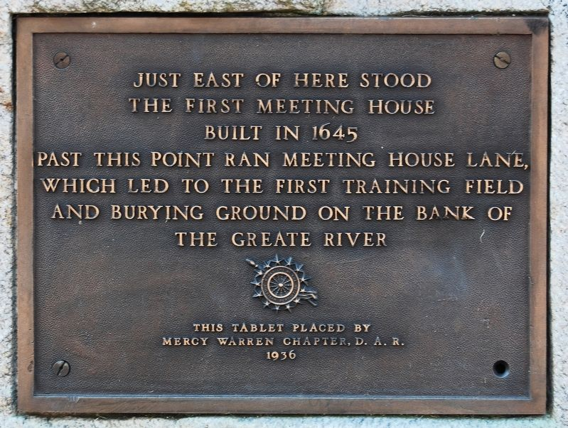 The First Meeting House Marker image. Click for full size.