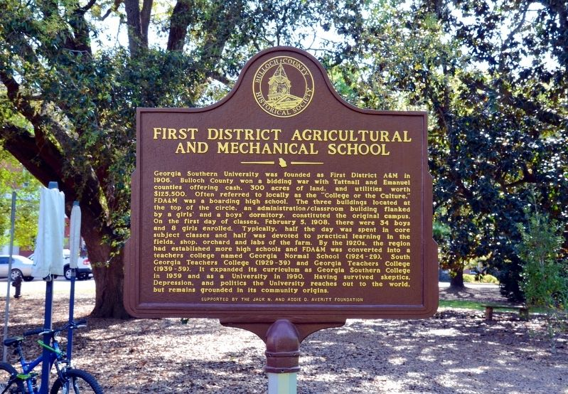 First District Agricultural and Mechanical School Marker image. Click for full size.