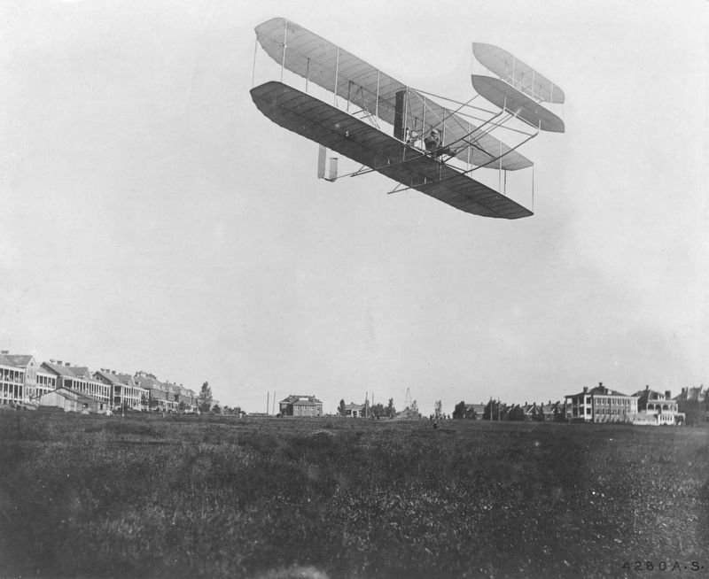 Wright Aeroplane, Ft. Myer, Va. image. Click for full size.