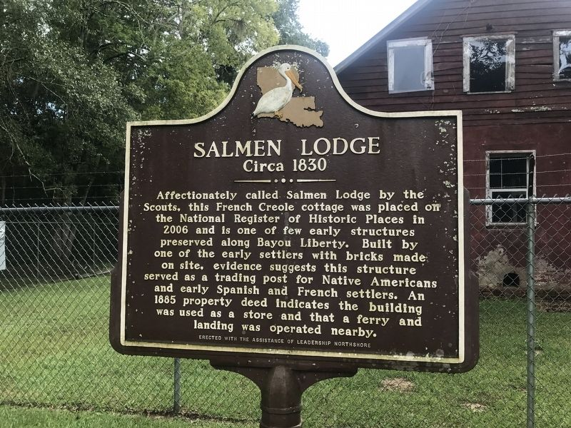 Salmen Lodge Marker image. Click for full size.