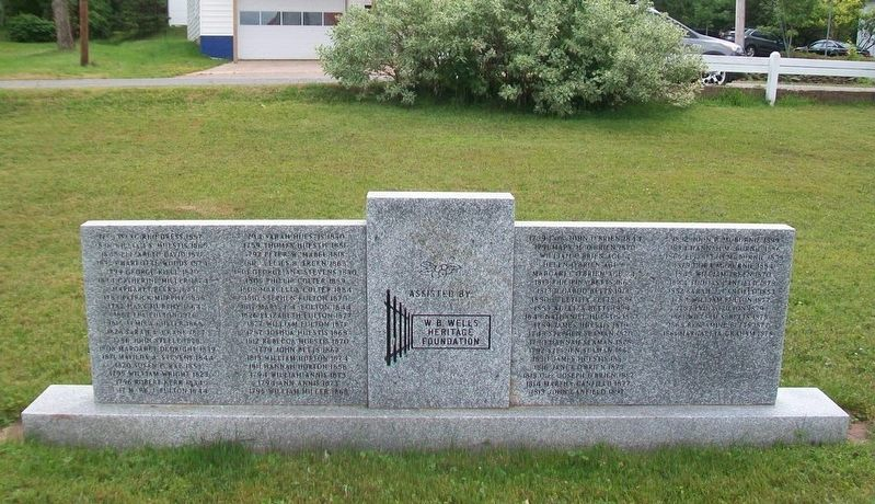 St. John's United Church Cemetery Monument (back) image. Click for full size.