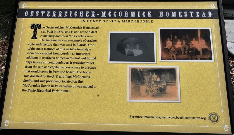 Oesterreicher-McCormick Homestead Marker image. Click for full size.