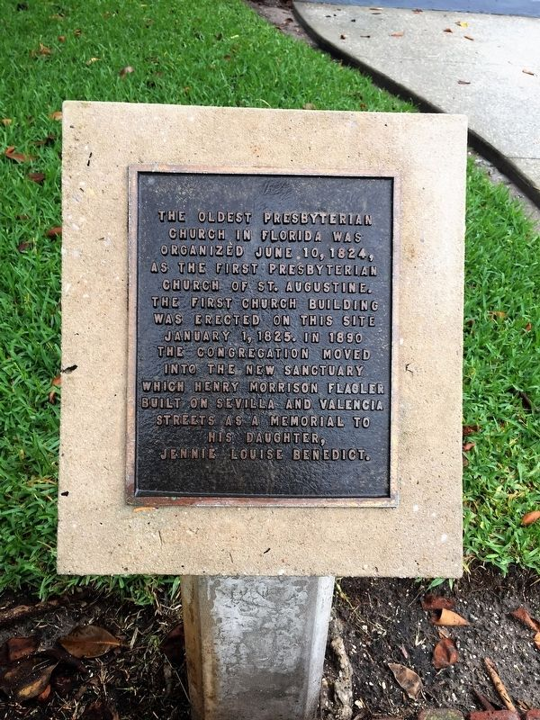The Oldest Presbyterian Church in Florida Marker image. Click for full size.