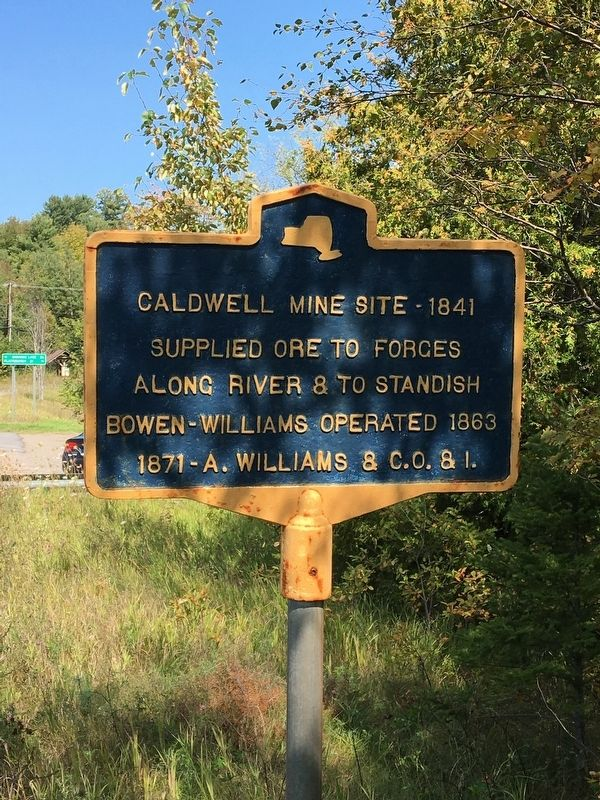 Caldwell Mine Site Marker image. Click for full size.