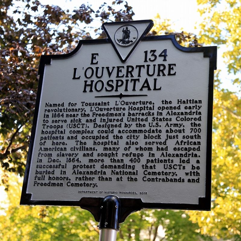 L'Ouverture Hospital Marker image. Click for full size.