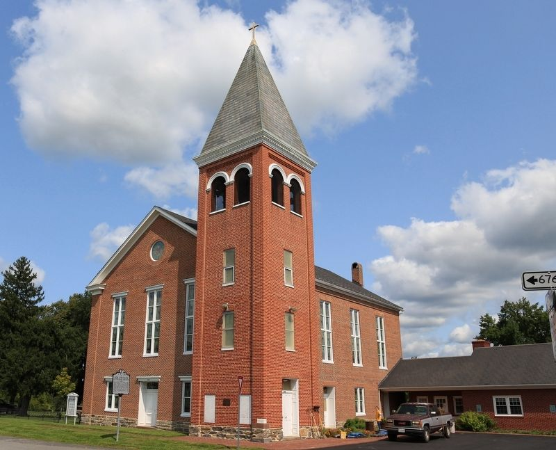 New Jerusalem Lutheran Church and Marker image. Click for full size.