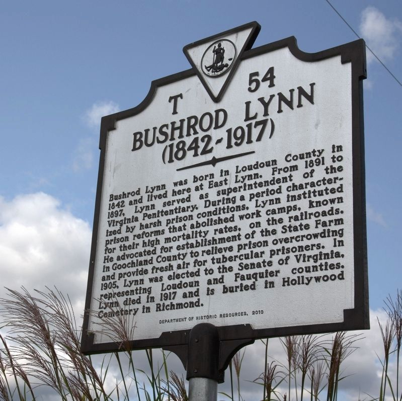 Bushrod Lynn Marker image. Click for full size.