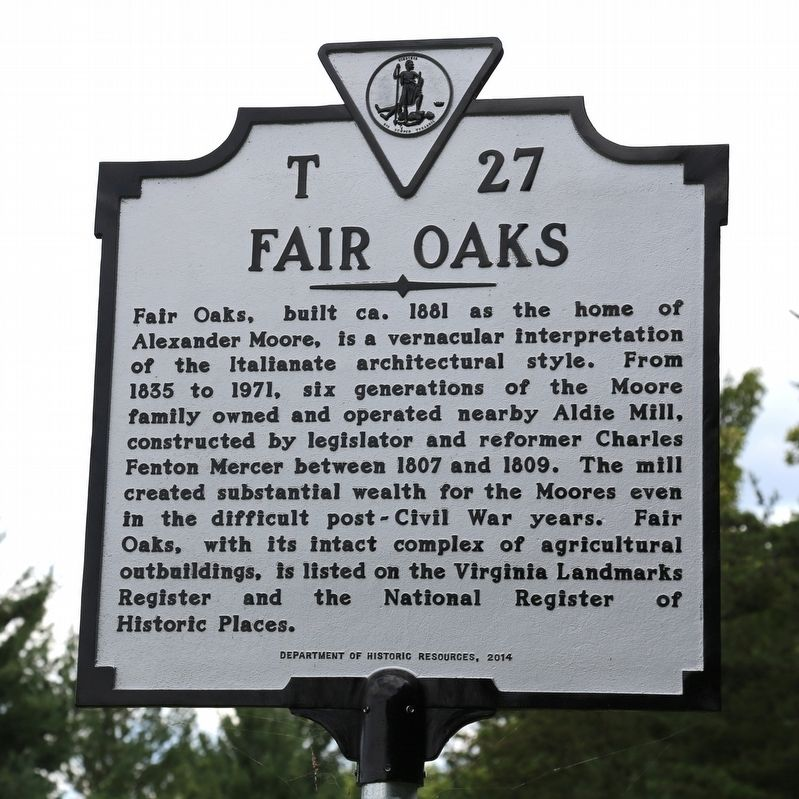 Fair Oaks Marker image. Click for full size.