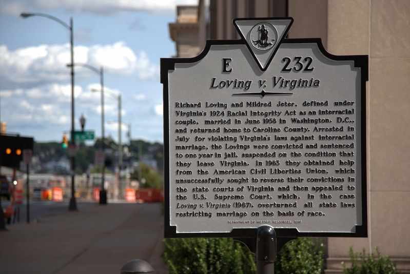 <i>Loving v. Virginia</i> Marker image. Click for full size.