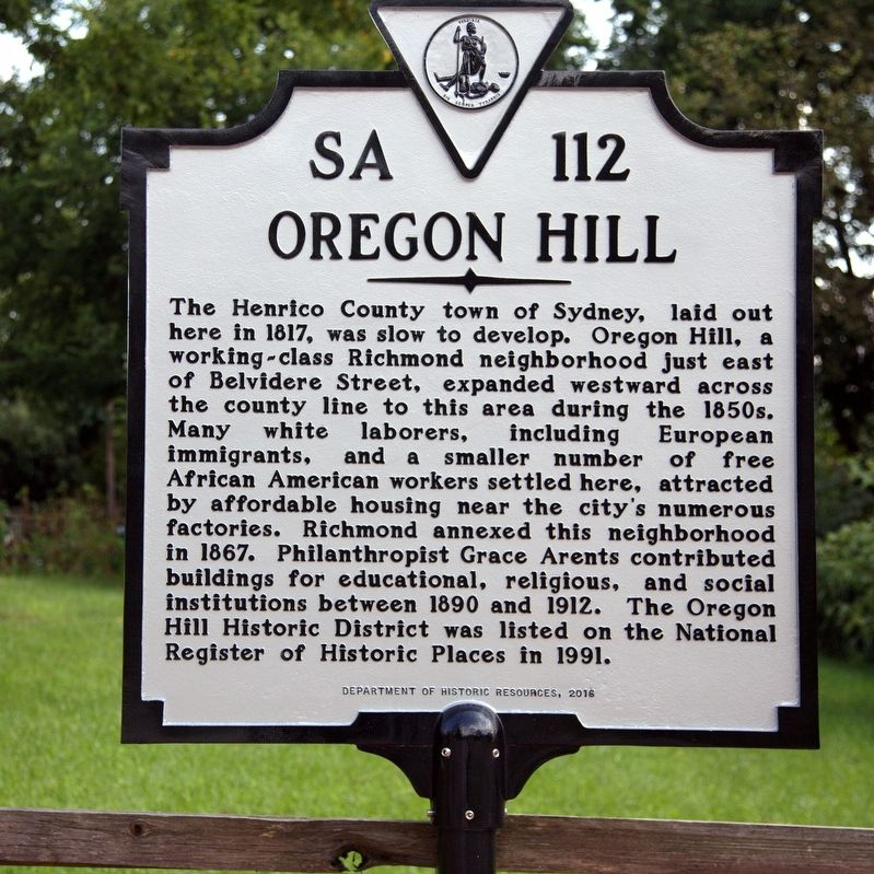 Oregon Hill Marker image. Click for full size.