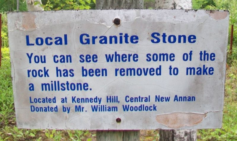 Local Granite Stone Marker image. Click for full size.