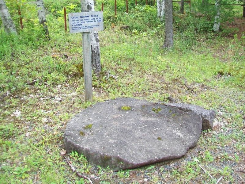 Local Granite Stone and Marker image. Click for full size.