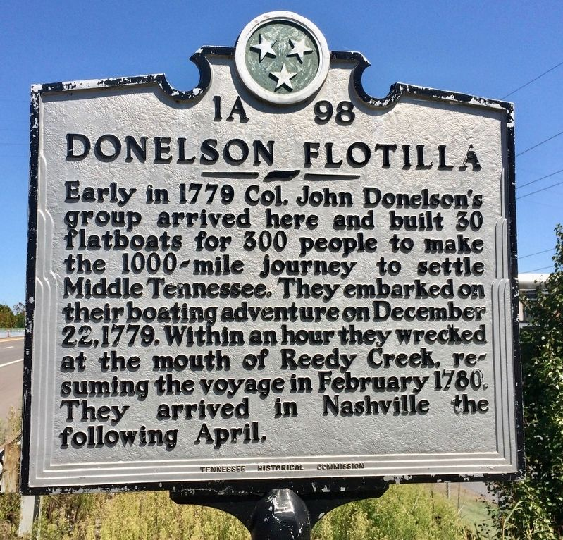 Donelson Flotilla Marker image. Click for full size.