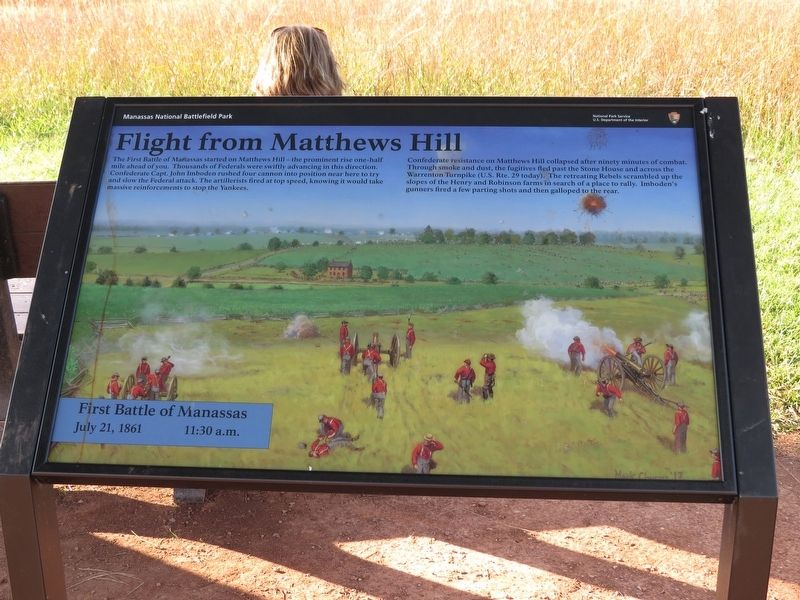 Flight from Matthews Hill Marker image. Click for full size.