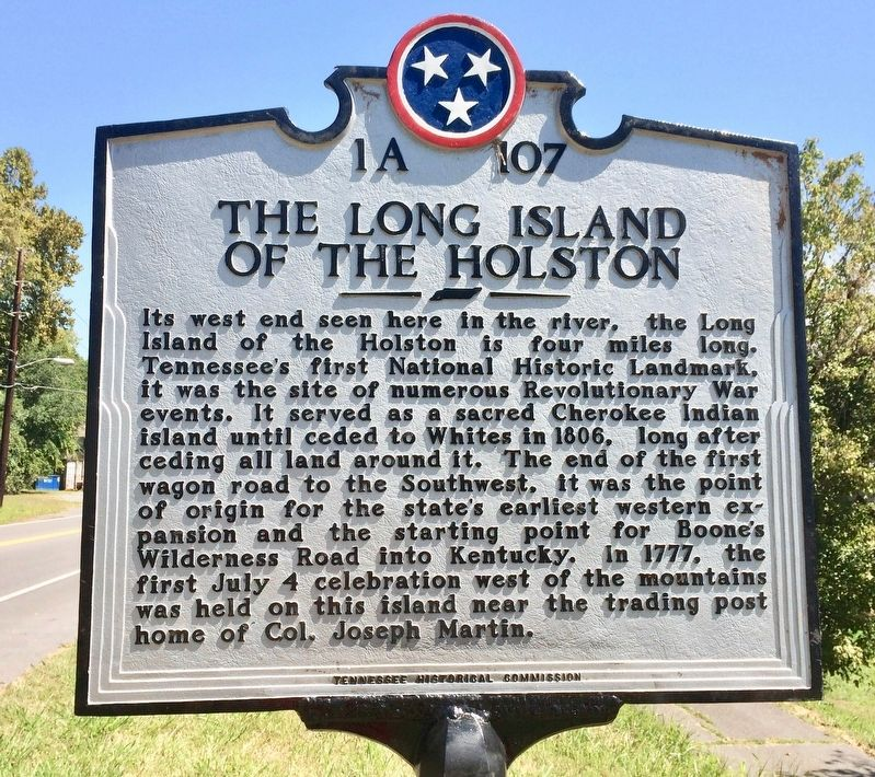 The Long Island of the Holston Marker image. Click for full size.