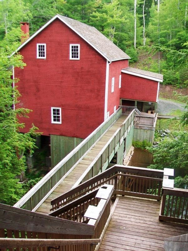 Balmoral Grist Mill and Markers image. Click for full size.