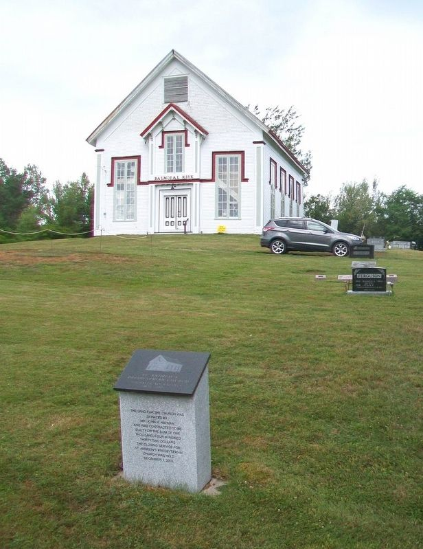 St. Andrew's Presbyterian Church and Marker image. Click for full size.