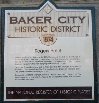 Rogers Hotel Marker image. Click for full size.