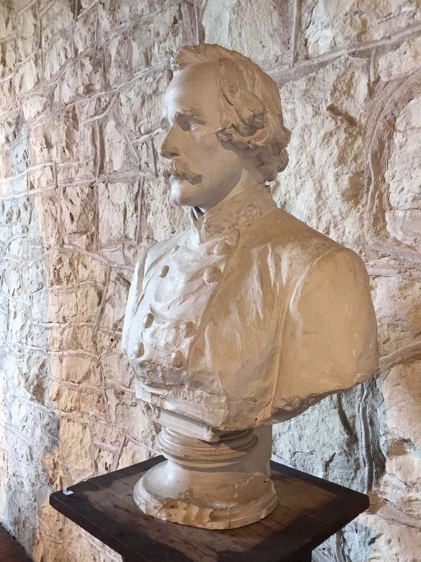 Portrait bust of Albert Sidney Johnston by Elisabet Ney; Ney Museum, Austin, TX image. Click for full size.
