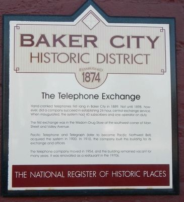 The Telephone Exchange Marker image. Click for full size.