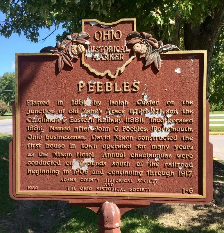 Peebles Marker image. Click for full size.